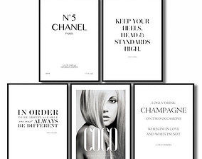 3D model Posters Coco Chanel