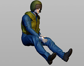 Helicopter pilot 3D printable model