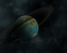 3D Planet Cekjratorakj w Microdisplacement Highpoly