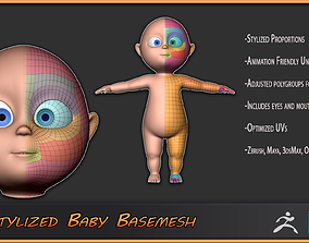 3D asset Stylized Baby Basemesh for Production