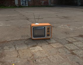 3D asset Game-ready low-poly retro TV