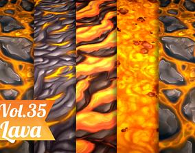 Stylized Lava Vol 35 - Hand Painted Textures 3D asset