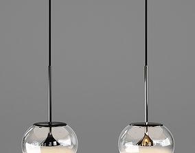 3D model chrome Alive Ceiling Lamp