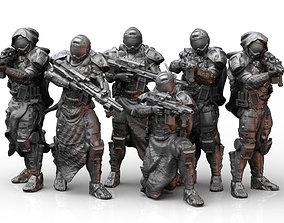 3D printable model Scifi Infantry Squad