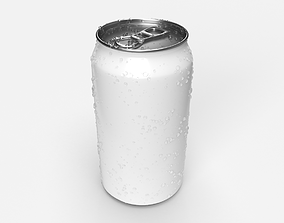 Soda Pop Can 355mL with Condensation Droplets 3D model