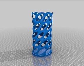 3D print model Pencil Holder Wireframe Design