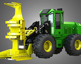 3D JD - Wheeled Feller Buncher