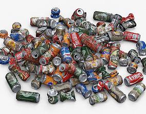 3D model Old aluminum cans