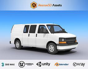 Full Size Van 3D asset