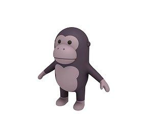 Cartoon Gorilla 3D