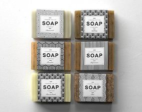 3D model Soap Set 01 brown