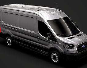 3D model Ford Transit Van 350 L3H2 Leader 2020