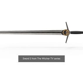 Swords of Geralt from The Witcher TV series 3D model