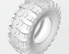 3D printable model Crawler rim and tire 3-part