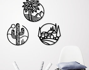 NATURE ICONS WALL DECORATION 3D printable model