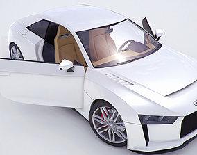 3D model Audi Quattro concept coupe 2010version