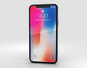 Apple iPhone X Space Gray 3D
