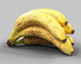 3D model low-poly Banana banana