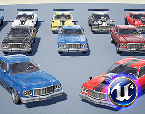Muscle Car Pack for Unreal Engine 4 3D asset