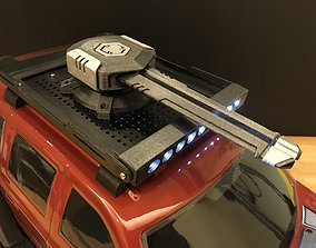 RC crawler roof-mount sci-fi cannon 3D printable model