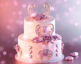 3D PBR Valentine Cake