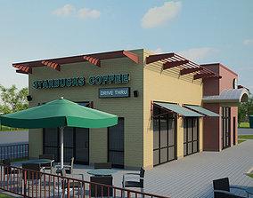 3D model Starbucks Restaurant 02