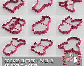 3D Cookie cutter - pack 3