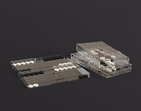 Decorative Backgammon 3D