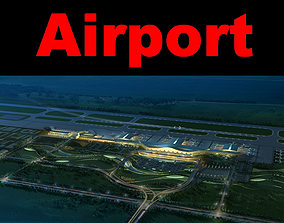 3D model Airport With Whole Infrastructure