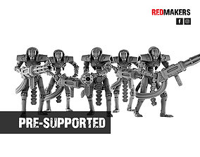 3D printable model Immortal Robots from the Tomb World