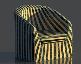 3D model rounded reception chair