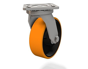 150 HD Castor swivel wheel Urethane 3D