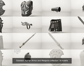 Gladiator Roman Armor and Weapons collection 3D