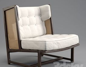 EDWARD WORMLEY Wing lounge chair 3D