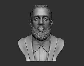 Nipsey Hussle 3D Bust Sculpture portrait