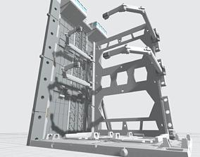3D print model -MHB04F- Mecha Hangar Bay 04 Hangar Fixture