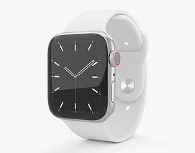 3D model Apple Watch Series 5 44mm Silver Aluminum Case 2