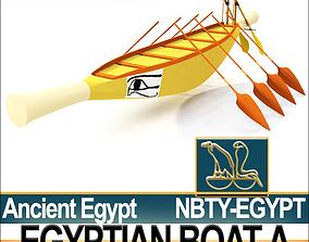 3D model Ancient Egypt Rowboat A