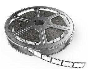 Video film reel 3D model realtime