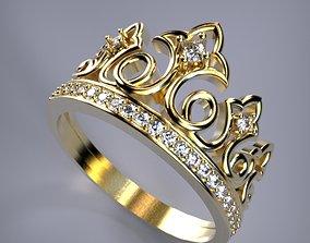 3d 3D print model Crown ring