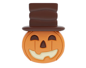 3D Halloween chocolate figurine with hat 2