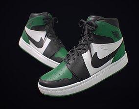 3D model Sneaker Nike Air Jordan Green White
