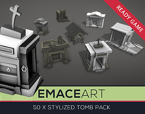3D model Low Poly Tomb Kit with LODs