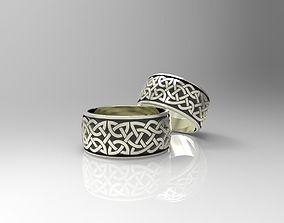 3D print model Celtaidd Celtic knots ring