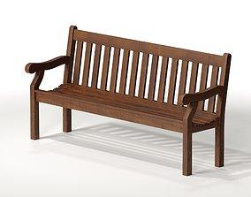 3D model Teak Garden Brockden Bench