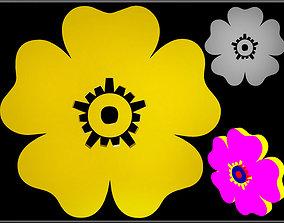Flower 05 3D model realtime