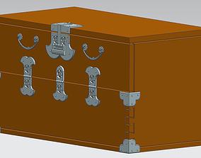 Wooden chest 3D print model
