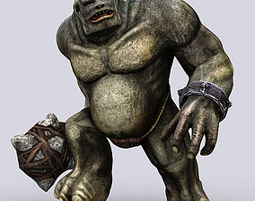 animated game-ready 3DRT - Troll Golem