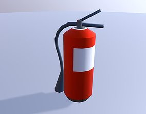 Simple Red Extinguisher- Low-Poly 3D model