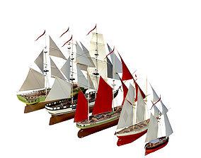 3D asset collection sailboats